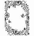 Nellie Snellen Embossing Folder Flower Rectangle Fram HSF016 per stuk