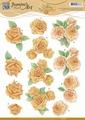 Jeanine's Art Knipvel Orange Roses CD10908