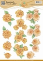 Jeanine's Art Knipvel Orange Roses CD10908