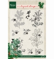Marianne Design clear stamp Tiny's Holly layering TC0862