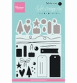 Marianne Design Clear Stamp Karin Joan Tags & Threads KJ1716
