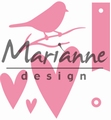 Marianne Design Collectables Gift Wrapping: Bird, TagCOL1443