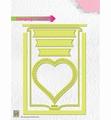 Nellie Snellen Stamping Card Dies Heart STCD001 per stuk