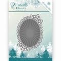 Jeanine's Art Snijmal Winter Classics - Mirror Oval JAD10025 per stuk