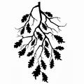 Lavinia Clear Stamp Oak Leaf Branch LAV468