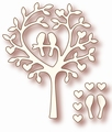 Wild Rose Studio Cutting Die Love Bird Tree SD009*