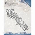 Amy Design Snijmal Vintage Winter - Snowflake Borde ADD10123 per stuk