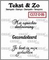 Crealies Clear Stamp Tekst en zo Overlijden 5 CLTZO05