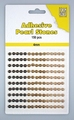 Nellie Snellen Adhesive Pearls 4 mm, 3 kleuren Brown APS405