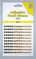 Nellie Snellen Adhesive Pearls 4 mm, 3 kleuren Brown APS405