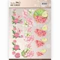 Jeanine's Art Knipvel Butterflies & Flowers - Pink CD11003