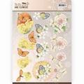Jeanine's Art Knipvel Butterflies & Flowers - Yellow CD11001