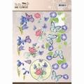 Jeanine's Art Knipvel Butterflies & Flowers - Blue CD11000