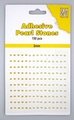 Nellie Snellen Adhesive Pearls 2 mm, 3 kleuren Yellow APS204