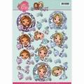 Yvonne Creations knipvel Sweet Girls - Beautiful GirlCD11013