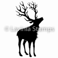 Lavinia Clear Stamp Reindeer (Large) LAV481 per stuk
