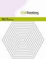 Craft Emotions Snijmal Hexagon rechte randen 115633/0813