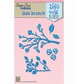 Nellie Snellen Shape Die Oak Branches SDB024