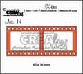 Crealies Snijmal X-tra Filmstrip Groot CLXTRA14 per stuk