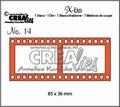 Crealies Snijmal X-tra Filmstrip Groot CLXTRA14