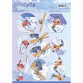 Jeanine's Art Knipvel Winter Sports - Snowfun CD11031