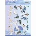 Jeanine's Art Knipvel Winter Sports - Iceskating CD11030