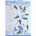Jeanine's Art Knipvel Winter Sports - Iceskating CD11030