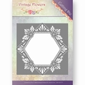Jeanine's Art Snijmal Vintage Flowers - Hexagon JAD10031