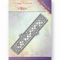 Jeanine's Art Snijmal Vintage Flowers - Border JAD10033 per stuk