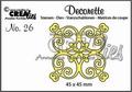 Crealies Decorette Snijmal nr. 26  CLDR26 per stuk