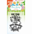 Joy! Crafts Clear Stamp Coffee txt - Monday 6410/0469