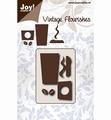 Joy Crafts Snijmal Vintage Flourishes Coffee Cup 6003/0085 per stuk