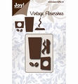 Joy Crafts Snijmal Vintage Flourishes Coffee Cup 6003/0085