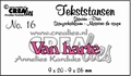 Crealies Tekstmal Van Harte CLTS16