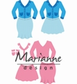 Marianne Design Collectables Lady's Suit COL1453