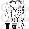Card-io Clear Stamp Posh Pots CDCCSTPOS-01