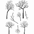 Card-io Clear Stamp Winter Trees CDCCSTWIN-10 per stuk