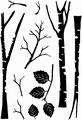 Card-io Clear Stamp Tall Trees CDCCSTTAL-01