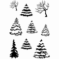 Card-io Clear Stamp Winter Woods CDCCSTWIN-06