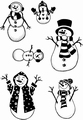 Card-io Clear Stamp Snow Family CDCCSTSNO-01 per stuk