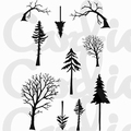 Card-io Clear Stamp Mini Tall Trees CDCCSTMIN-01