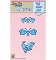 Nellie Snellen Shape Die Butterflies SDB039 per stuk