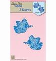 Nellie Snellen Shape Die Doves SDB057 per stuk