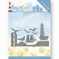 Jeanine's Art Snijmal Beach Fun - Lighthouse Border JAD10039