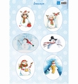 Marianne Design Knipvel Snowmen Ovals VK9568