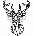 Marianne Design Craftables Geometric Deer CR1445