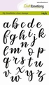 Craft Emotions Clear Stamp Handlettering Alphabet130501/1893 per stuk