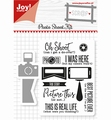 Joy! Crafts Clear Stamp+Snijmal Photoshoot Kit 6004/0029 per stuk