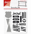 Joy! Crafts Clear Stamp+Snijmal Journaling Kit 6004/0028
