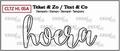Crealies Clear Stamp Tekst en zo Hoera CLTZHL05A